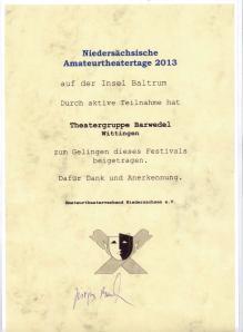 Theatertagezertifikat2013